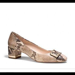 Coach Isla Snake Print Heels